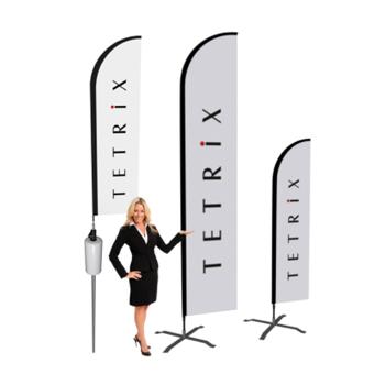 Beachflag mainosliput ja logoliput. Koko, hinta, malli, suunnittelupohja ja toimitusaika